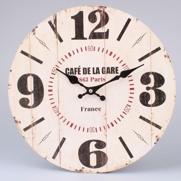 Zegar drewniany Café De La Gare