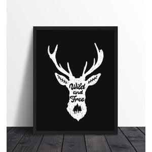 Plakat w ramie Wild Black, 40x50 cm