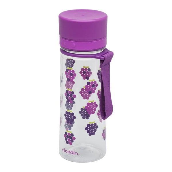 Butelka na wodę Aveo 350 ml, fioletowa z nadrukiem