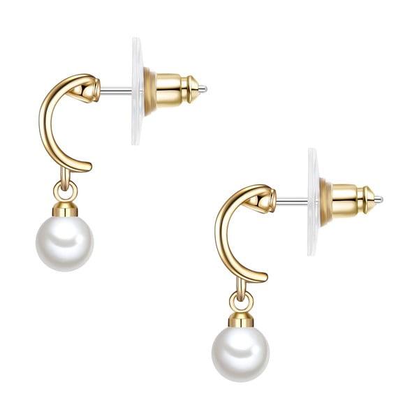 Kolczyki z białych pereł Perldesse Cre, ⌀ 6 mm