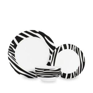 12-częściowy zestaw naczyń stołowych Sabichi Zebra