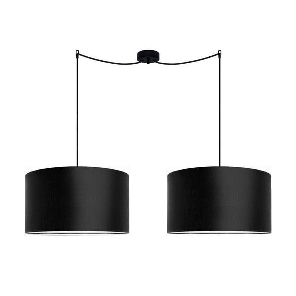 Podwójna lampa wisząca Cero Tres, czarna, ⌀ 40 cm