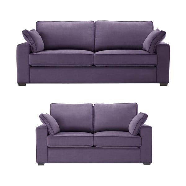 Dwuczęściowy komplet wypoczynkowy Jalouse Maison Serena, fioletowy