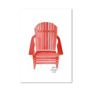 Autorski plakat Adirondack Chair, 30x42 m