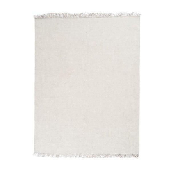 Wełniany dywan Rainbow White, 90x160 cm