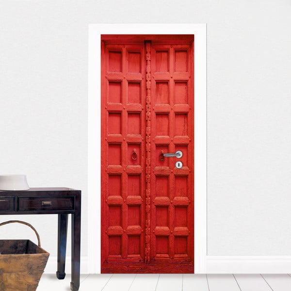 Czerwona naklejka na drzwi Eurographics
