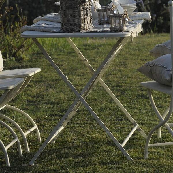 Metalowy stolik Luxe, kość słoniowa