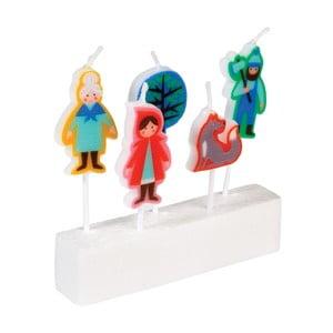 Zestaw 5 świeczek Czerwony Kapturek Rex London Red Riding Hood