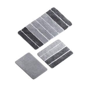 Zestaw 3 szarych dywaników łazienkowych Line Bath Mat Kesma