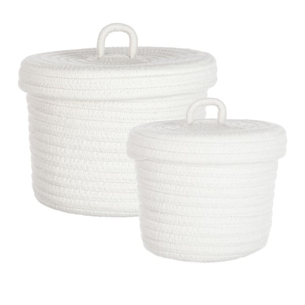Zestaw 2 koszyków bawełnianych Cotton White