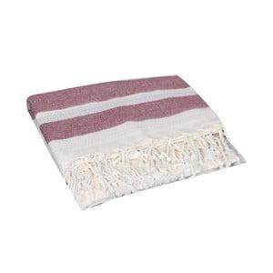 Czerwony ręcznik hammam Mimoza Red, 90x190cm