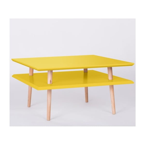 Stolik kawowy UFO Square Yellow, 35 cm