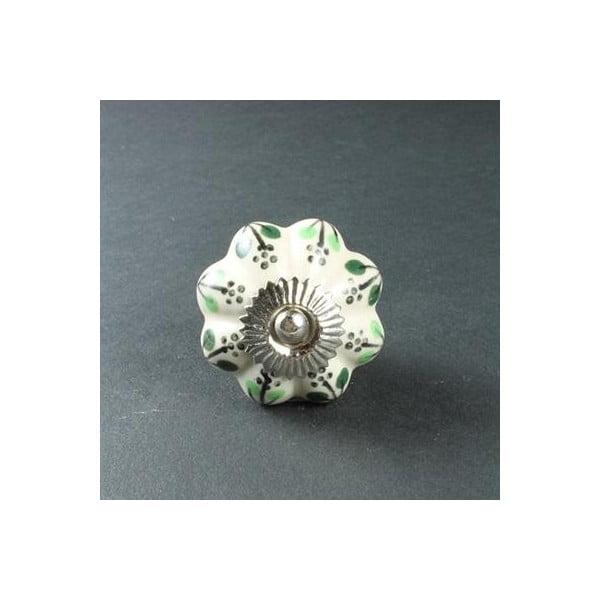Gałka porcelanowa Green Flowers
