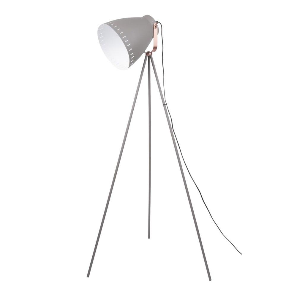 Szara lampa stojąca Leitmotiv Mingle