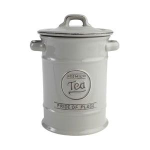 Szary pojemnik ceramiczny na herbatę Pride of Place