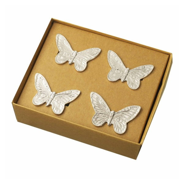 Komplet 4 pierścieni na serwetki Parlane Butterfly