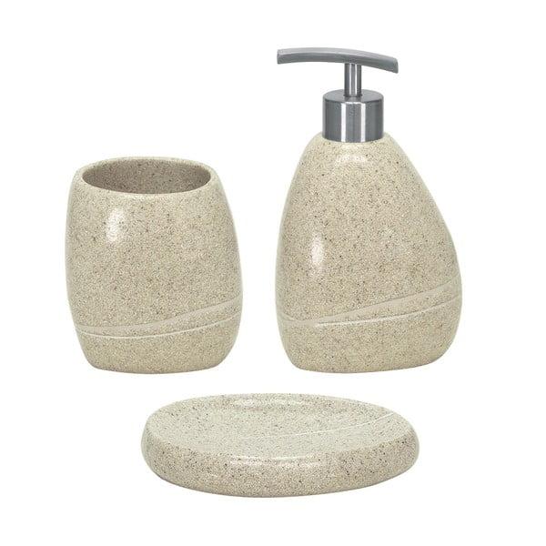 Zestaw akcesoriów łazienkowych Stones Beige