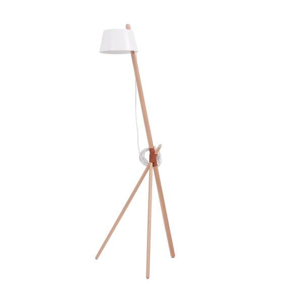Biała lampa stojąca Woodendot Ka M