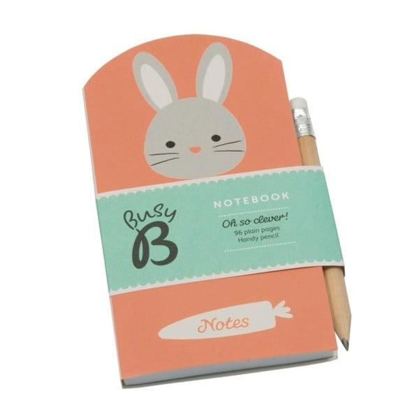 Notesik Busy B Bunny z ołówkiem