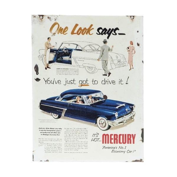 Tabliczka na ścianę Mercury Blue