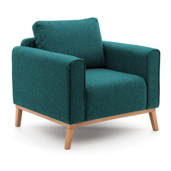 Turkusowy fotel Vivonita Milton