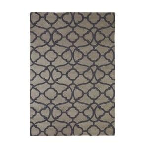 Dywan wyszywany Large Tile Print, 170x240 cm, szary