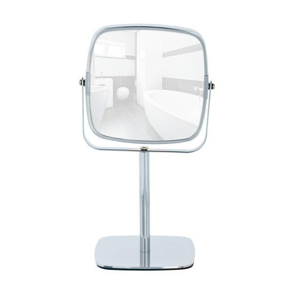 Chromowane lusterko kosmetyczne stojące Wenko Kare, wysokość 30 cm