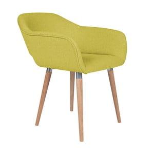 Żółty fotel BSL Concept Vera