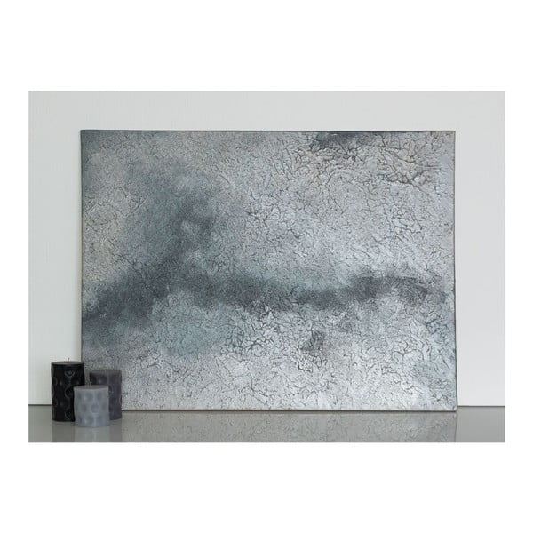 Obraz Silver Abstract, 60x90 cm