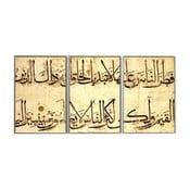 Trzyczęściowy obraz Arabian, 45x90 cm