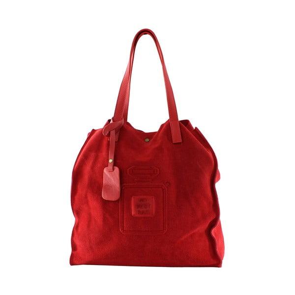 Skórzana torebka Perfume, czerwona