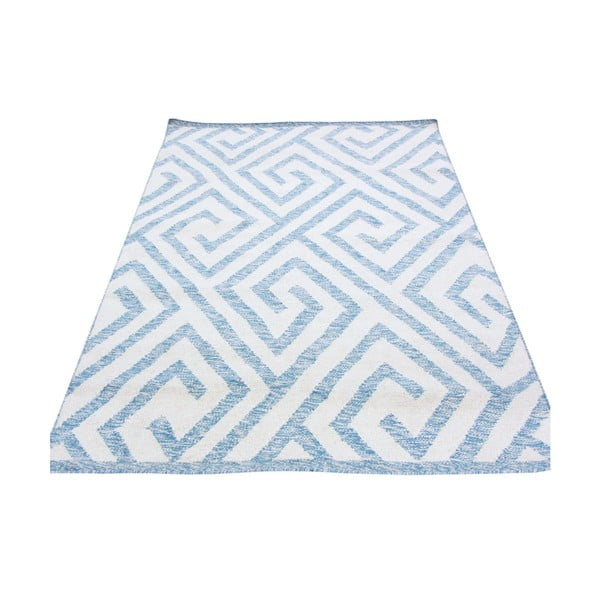 Dywan ręcznie tkany Kilim Design 69 Blue/White, 100x150 cm