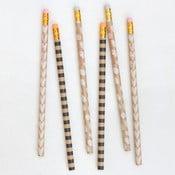 Zestaw 6 ołówków Caroline Gardner Kraft Pencils, tvrdost HB