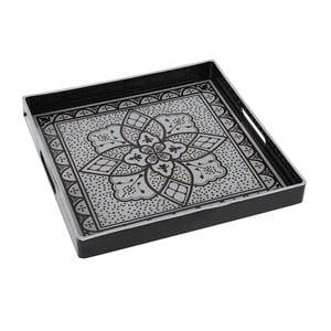 Plastikowa taca Black and White, 35x35 cm