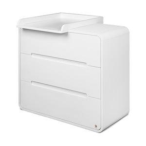 Biała komoda z 3 szufladami i zdejmowanym przewijakiem YappyKids Owl