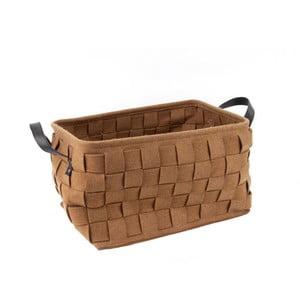 Duży brązowy koszyk PT LIVING Storage, dł. 40 cm