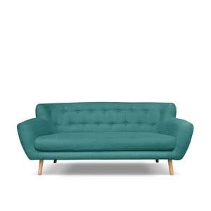 Ciemnozielona sofa 3-osobowa Cosmopolitan design London