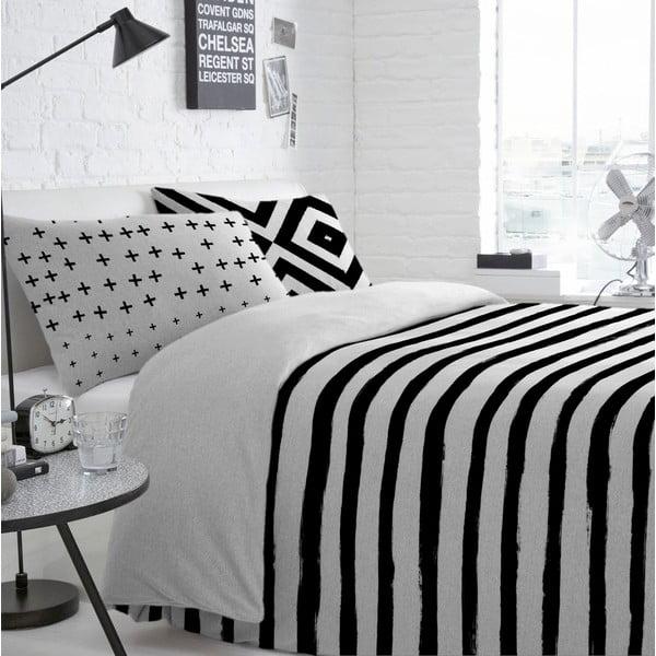 Bawełniana poszwa na kołdrę Blanc Stripes, 140x200cm