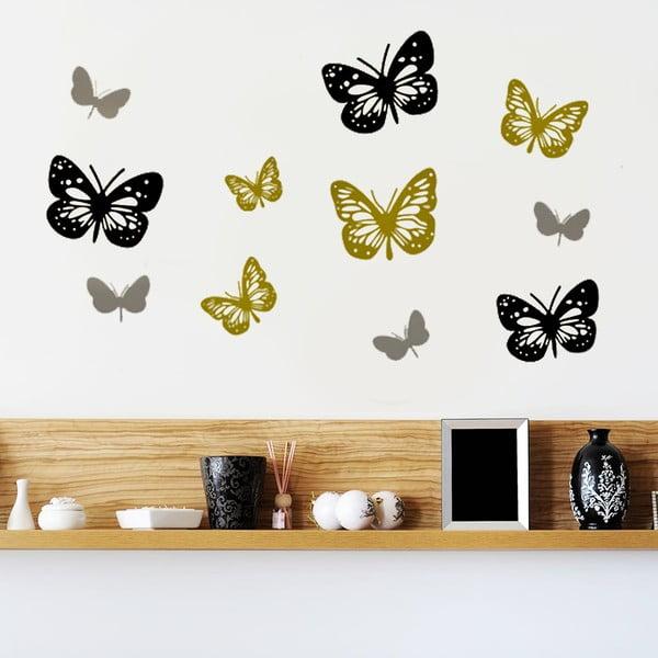 Naklejka ścienna Kolorowe motyle, 60x90 cm