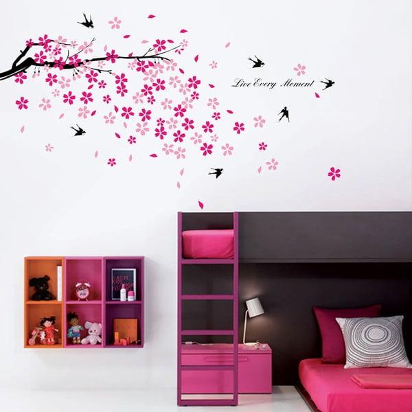 Naklejka WALPLUS Różowe kwiatki