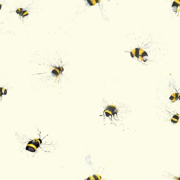 Rolka tapety Pszczoły, 53x1005 cm