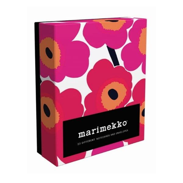 Zestaw kartek na życzenia i kopert Chronicle Books Marimekko Notes, 20 sztuk