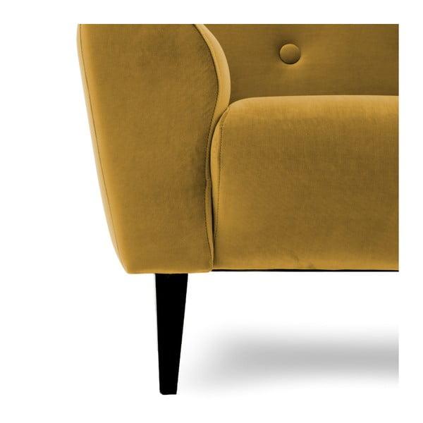 Musztardowożółty fotel Vivonita Kiara