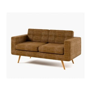 Sofa dwuosobowa York Dubai, brązowa