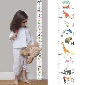 Miarka wzrostu dla dzieci Art For Kids Alphabet
