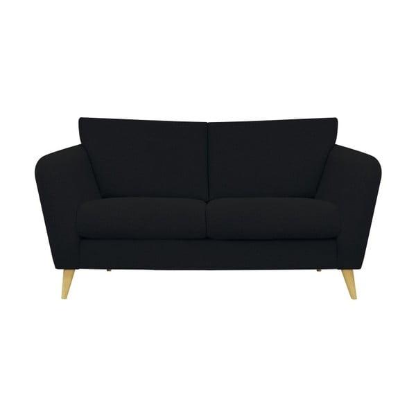 Czarna sofa 2-osobowa Helga Interiors Max