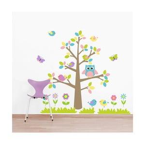 Naklejka Kolorowe drzewa i zwierzęta, 70x50 cm