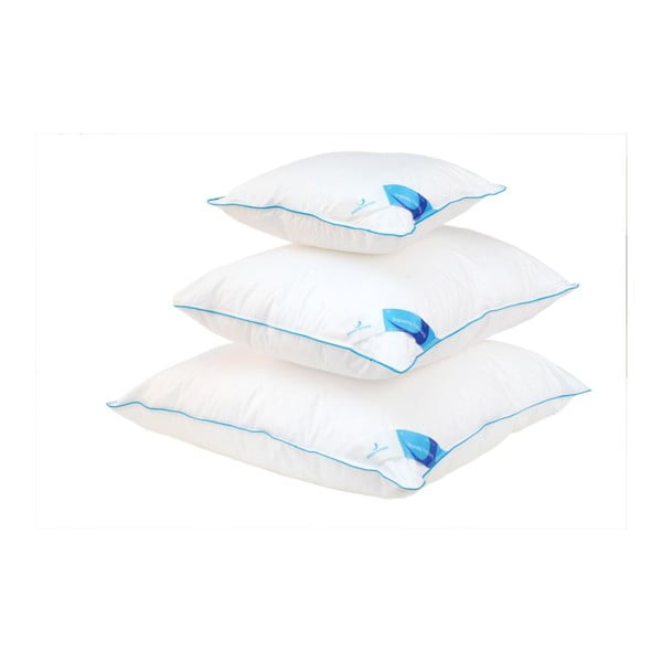 Biała poduszka z nanowłóknami Life Green Future, 40x40cm