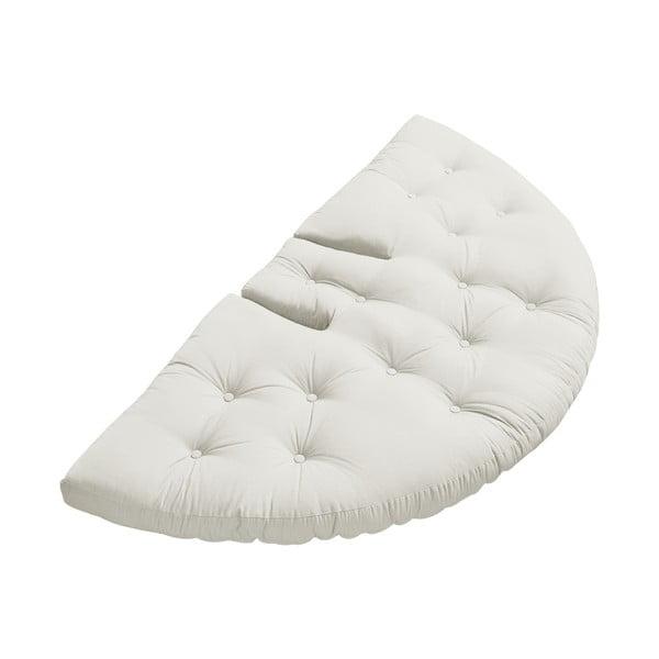 Rozkładany fotel z jasnobeżowym obiciem Karup Design Nest Natural
