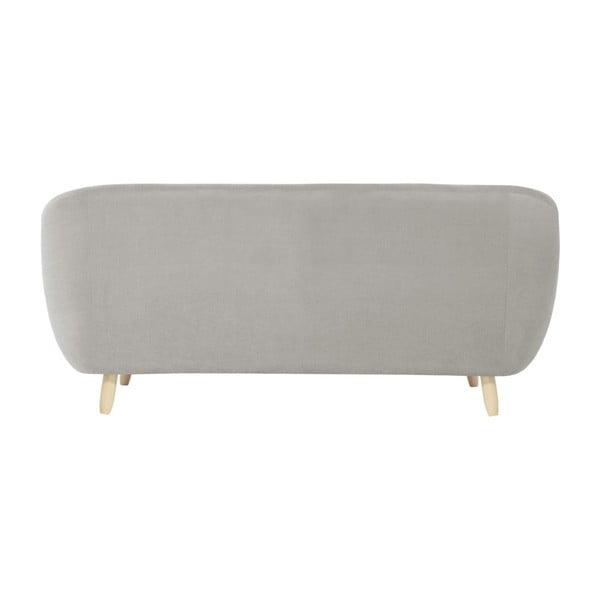Jasnoszara sofa 3-osobowa Jalouse Maison Vicky